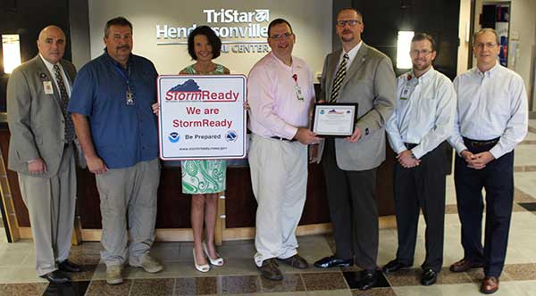 TriStar Hendersonville Tennessee's First StormReady Hospital
